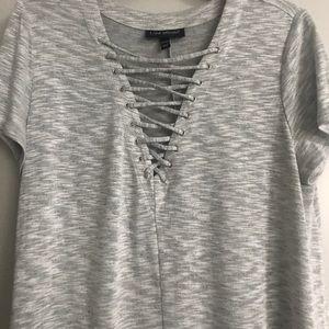 Heather gray cotton T-shirt dress